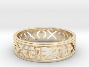 Size 8 Xoxo Ring A in 14K Yellow Gold