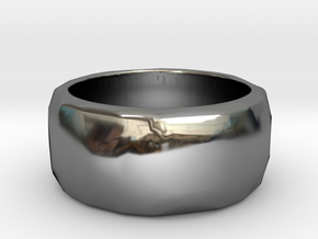 CODE: WP62 - RING SIZE 7 in Fine Detail Polished Silver
