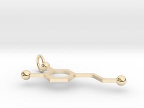 Dopamine in 14k Gold Plated Brass