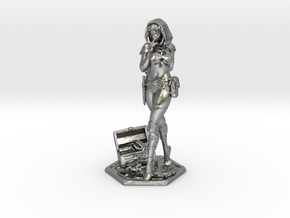 Female Thief 2inch in Natural Silver