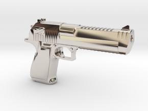 Desert Eagle Keychain in Platinum