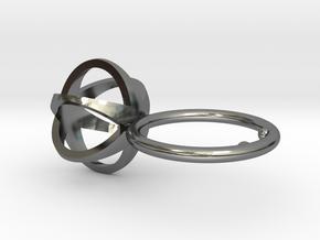 3D MINI STAR GLITZ SPARKLE RING - size 7 in Fine Detail Polished Silver
