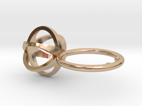 3D MINI STAR GLITZ SPARKLE RING - size 7 in 14k Rose Gold Plated Brass