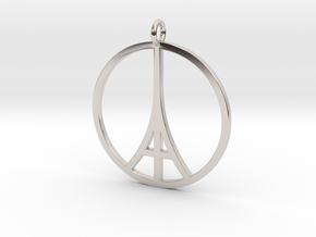 Paris Peace Pendant in Platinum