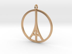 Paris Peace Pendant in Polished Bronze