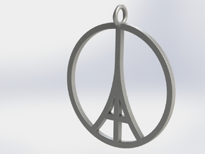 Paris Peace Pendant in Raw Silver