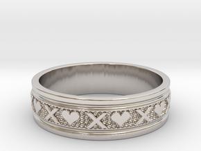 Size 7 Xoxo Ring B in Platinum