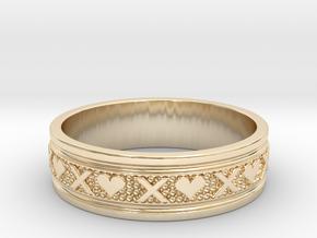 Size 8 Xoxo Ring B in 14K Yellow Gold