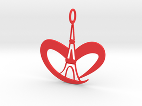 Love Paris - Eiffel Tower in Red Processed Versatile Plastic