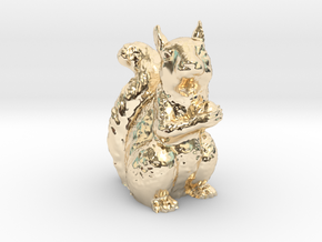 Guardian Squirrel in 14K Yellow Gold
