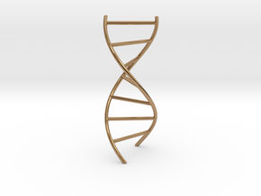 DNA Pendant in Polished Brass