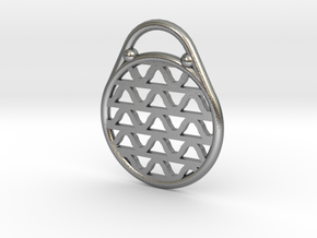 DRAW pendant - waves H in Natural Silver