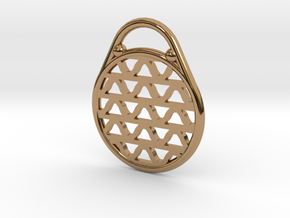 DRAW pendant - waves H in Polished Brass