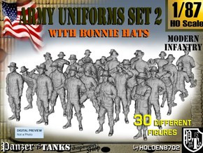 1-87 Army Modern Uniforms Set2 in Frosted Ultra Detail