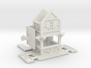 Fachwerkhausbude - 1:220 (Z scale) in White Natural Versatile Plastic
