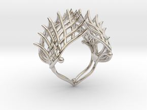 Ring The Iroquois\ knuckle / size 6 US    (16,5 mm in Rhodium Plated Brass