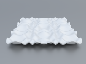 Mathematical Function 10 in White Processed Versatile Plastic