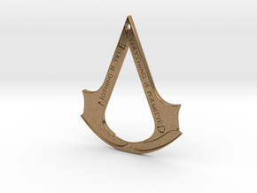 Assassin's creed logo-bottle opener (with hole) in Natural Brass