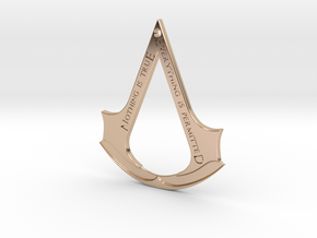 Assassin's creed logo-bottle opener (with hole) in 14k Rose Gold Plated Brass