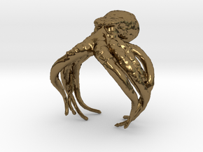 Cthulhu Ring in Polished Bronze