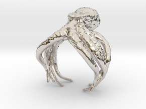 Cthulhu Ring in Rhodium Plated Brass