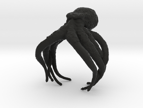 Cthulhu Ring in Black Natural Versatile Plastic