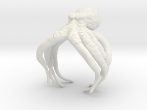 Cthulhu Ring in White Natural Versatile Plastic