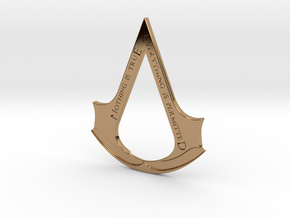 Assassin's creed logo-bottle opener  in Polished Brass