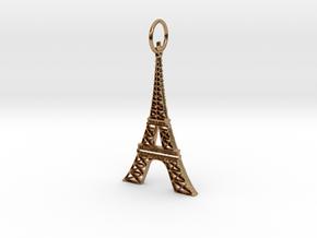 Eiffel Tower Earring Ornament in Polished Brass
