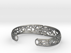 Radici Bracelet, Open, S 55 mm in Fine Detail Polished Silver