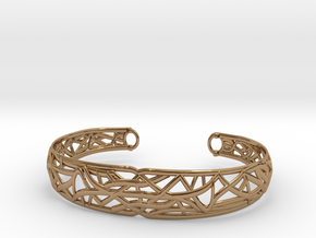 Radici Bracelet, Open M 60 mm in Polished Brass