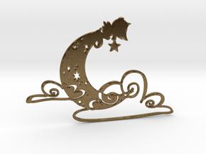 Luminous Dream 1 - 5cm Silhouette 2D in Natural Bronze