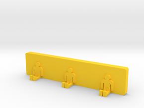 Clothes hangers in Yellow Processed Versatile Plastic