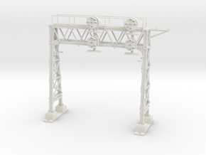 HO Scale PRR W-signal LATTICE 2 Track in White Natural Versatile Plastic