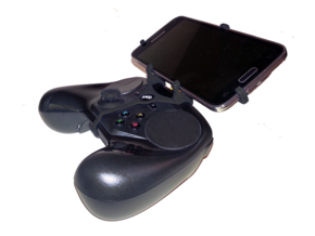 Steam controller & Samsung Galaxy S6 edge - Front  in Black Natural Versatile Plastic