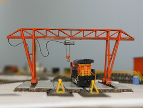 N Scale Gantry Crane 154mm in Smooth Fine Detail Plastic