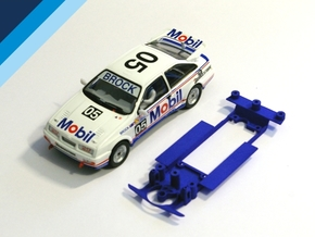 1/32 Chassis for Fly BMW M3 or Ninco Ford Sierra in White Natural Versatile Plastic