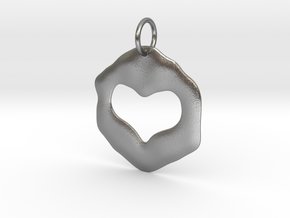 Pendant of true love in Natural Silver