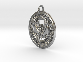 Eagle Scout Pendant in Raw Silver