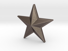 NEW! Star NUT, for M6 x1 Screw in Polished Bronzed Silver Steel