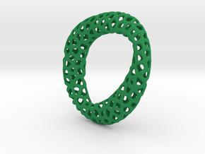 Voronoi pendant mobius in Green Processed Versatile Plastic