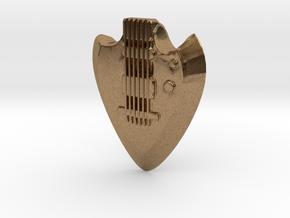 Guitar Pick 8mm in Natural Brass