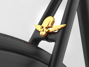NEW! Skull & Wing NUT, for M6 x1 Screw in Yellow Processed Versatile Plastic