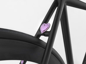 NEW! Fixie Heart NUT, for M6 x1 Screw in Purple Processed Versatile Plastic