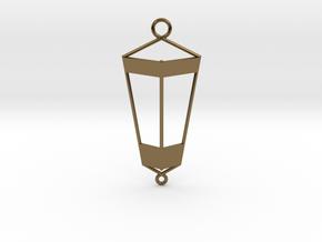 Lantern Pendant in Polished Bronze
