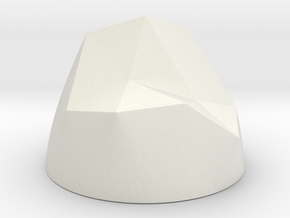 Pen & Paper Rock for 1 Inch field in White Natural Versatile Plastic