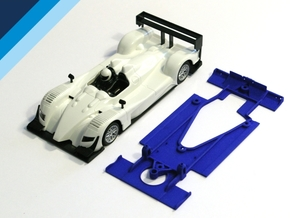 1/32 Ninco Acura Chassis for NSR motor mount in Blue Processed Versatile Plastic