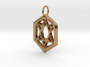 Jewish Star in Polished Brass