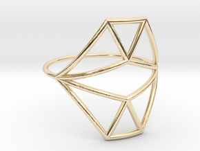 VECTOR EQUILIBRIUM Ring Nº18 in 14K Yellow Gold