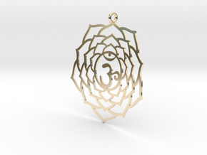 Crown Chakra Necklace in 14k Gold Plated Brass